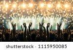 shot inside a concert hall with ... | Shutterstock . vector #1115950085