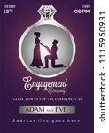 engagement invitation card... | Shutterstock .eps vector #1115950931