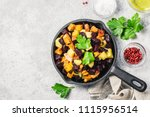 balsamic roasted vegetables ... | Shutterstock . vector #1115956514