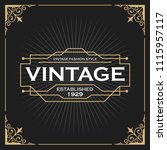 vintage line frame design for... | Shutterstock .eps vector #1115957117