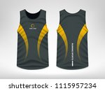 sleeveless sport t shirt design | Shutterstock .eps vector #1115957234