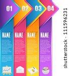 vector background number... | Shutterstock .eps vector #111596231