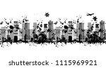 metropolis silhouette  seamless ... | Shutterstock .eps vector #1115969921