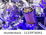 car engine close up | Shutterstock . vector #1115976041