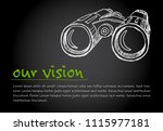 great vision   minimalist... | Shutterstock .eps vector #1115977181