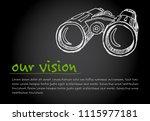 great vision   minimalist... | Shutterstock .eps vector #1115977181