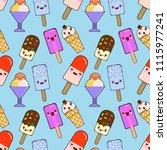 seamless pattern ice cream  ice ...   Shutterstock .eps vector #1115977241