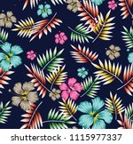 stock flowers with patti... | Shutterstock .eps vector #1115977337
