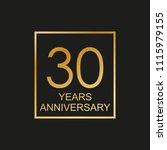 30 years anniversary logo. 30th ...   Shutterstock .eps vector #1115979155