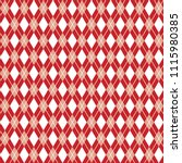 red seamless argyle pattern ... | Shutterstock .eps vector #1115980385