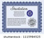 blue invitation template. with... | Shutterstock .eps vector #1115984525