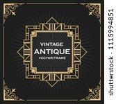 luxury vintage artdeco frame... | Shutterstock .eps vector #1115994851