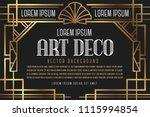 luxury vintage artdeco frame... | Shutterstock .eps vector #1115994854