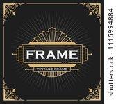 vintage line frame design for... | Shutterstock .eps vector #1115994884