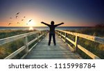 beautiful sunset at the baltic...   Shutterstock . vector #1115998784