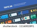 traffic road jam. automobile... | Shutterstock .eps vector #1116002891