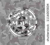 ambient on grey camo texture | Shutterstock .eps vector #1116005834