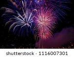 beautiful firework from water... | Shutterstock . vector #1116007301