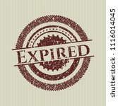 red expired distressed rubber... | Shutterstock .eps vector #1116014045