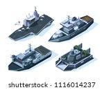military boats isometric.... | Shutterstock .eps vector #1116014237