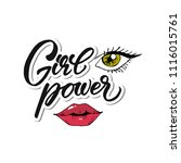 girl pover. hand drawn... | Shutterstock .eps vector #1116015761