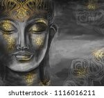 buddha   digital art collage... | Shutterstock . vector #1116016211