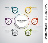 abstract time line info graphic ... | Shutterstock .eps vector #1116022997