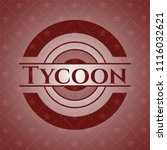 tycoon retro style red emblem | Shutterstock .eps vector #1116032621