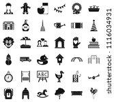 childcare icons set. simple... | Shutterstock . vector #1116034931