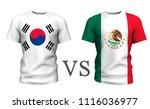 south korea vs mexico. soccer...   Shutterstock . vector #1116036977