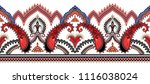 seamless border with red black... | Shutterstock .eps vector #1116038024