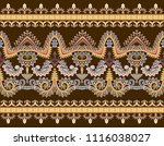 seamless border with small... | Shutterstock .eps vector #1116038027