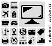 set of 17 business icons or... | Shutterstock .eps vector #1116038951