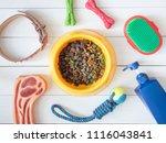 top view of pet care concept... | Shutterstock . vector #1116043841
