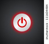 red power button on black | Shutterstock .eps vector #111604484