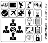set of 17 business symbols of... | Shutterstock .eps vector #1116048419