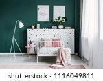 pillows on a single bed set on... | Shutterstock . vector #1116049811