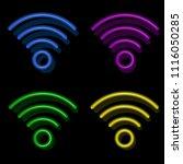 wi fi symbol  wireless symbol... | Shutterstock .eps vector #1116050285
