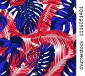 tropic seamless pattern with... | Shutterstock .eps vector #1116051401