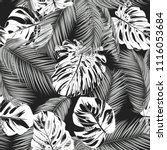 tropic seamless pattern with... | Shutterstock .eps vector #1116053684