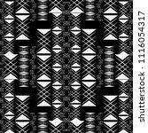 black and white geometric... | Shutterstock .eps vector #1116054317
