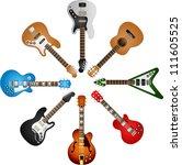 vector guitars circle | Shutterstock .eps vector #111605525