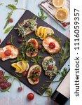 bruschetta with tomato | Shutterstock . vector #1116059357
