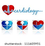 cardiology  vascular and health ... | Shutterstock .eps vector #111605951