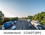 sunset view heavy traffic... | Shutterstock . vector #1116071891