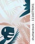 vector summer tropical print.... | Shutterstock .eps vector #1116075041
