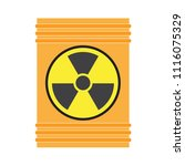 a container with radioactive... | Shutterstock .eps vector #1116075329