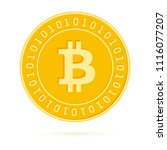 bitcoin  internet currency coin ... | Shutterstock .eps vector #1116077207