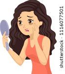 illustration of a teenage girl... | Shutterstock .eps vector #1116077501