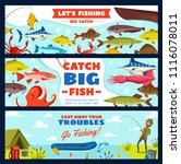 fishing banner with fisherman... | Shutterstock .eps vector #1116078011